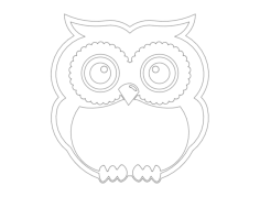 standing owl Free Dxf for CNC