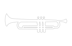 trumpet silhouette Free Dxf for CNC