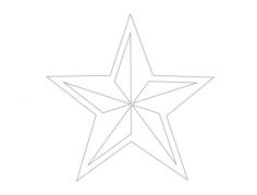 estrella nautica (star) Free Dxf for CNC