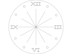 clock rom num Free Dxf for CNC