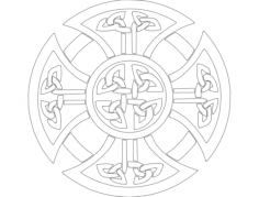 derby celtic cross Free Dxf for CNC