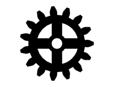 gear Free Dxf for CNC