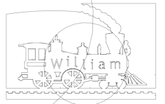 locomotive william Free Dxf for CNC