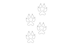 wolf tracks Free Dxf for CNC
