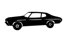 72 chevelle 1b Free Dxf for CNC