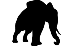 elephant silhouette Free Dxf for CNC