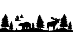 bear and moose Free Dxf for CNC