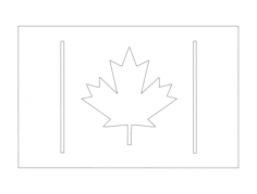canada flag 2 Free Dxf for CNC