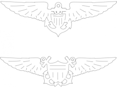 aviation wings Free Dxf for CNC
