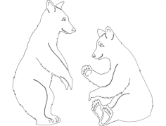 bears 2 Free Dxf for CNC