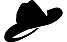 cowboy hat Free Dxf for CNC
