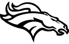 denver broncos Free Dxf for CNC