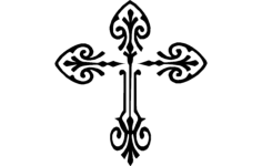 decorative cross Free Dxf for CNC