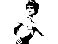 bruce lee 3 Free Dxf for CNC