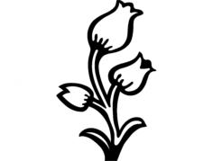 aplique flor Free Dxf for CNC