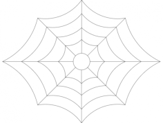 spider web 2 Free Dxf for CNC