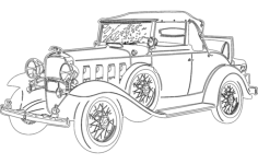 vintage car Free Dxf for CNC