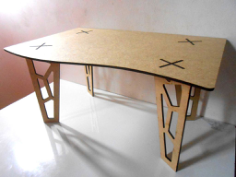 table 3d fancy legs Free Dxf for CNC