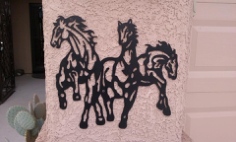 horses Free Dxf for CNC
