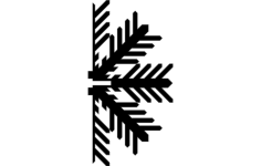 snowflake c Free Dxf for CNC