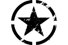 estrela militar Free Dxf for CNC