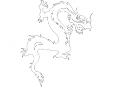 dragon 8 Free Dxf for CNC