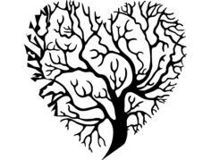 tree heart Free Dxf for CNC