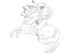 cavalo e soldado Free Dxf for CNC