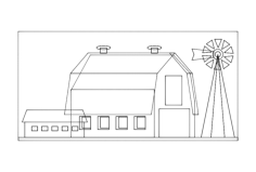 barn Free Dxf for CNC