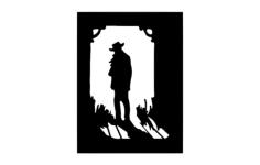cowboy shadow Free Dxf for CNC