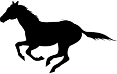 running horse silhouette Free Dxf for CNC