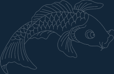 fish Free Dxf for CNC