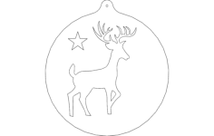 deer orn Free Dxf for CNC