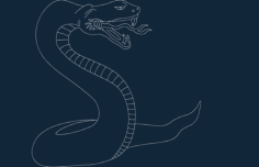 serpent snake Free Dxf for CNC
