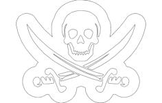 skull swords Free Dxf for CNC