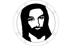 jesus sillhouette fixed Free Dxf for CNC