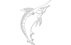 marlin fish Free Dxf for CNC