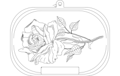 rose Free Dxf for CNC