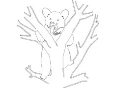 bear 8 Free Dxf for CNC
