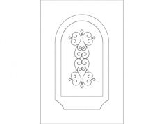 door design arch 2 Free Dxf for CNC