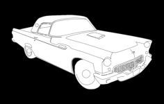 55 t bird k Free Dxf for CNC