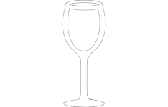 wine glass Free Dxf for CNC