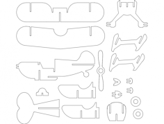 pitts s1c Free Dxf for CNC