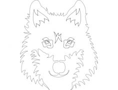 wolf face Free Dxf for CNC