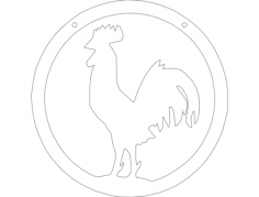 bird Free Dxf for CNC