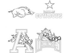 arkansas razorbacks dallas cowboys Free Dxf for CNC