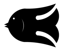 fish small 2 Free Dxf for CNC