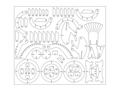 eagle (2) Free Dxf for CNC