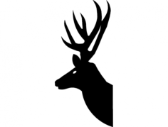 deer head 2 Free Dxf for CNC