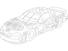 dupont chevy 24 lineart Free Dxf for CNC